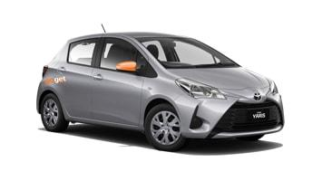 Rent Zidd the Yaris by the hour